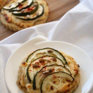 Tartelettes ricotta-courgettes, bio {sans gluten / sans oeufs / végétarien}