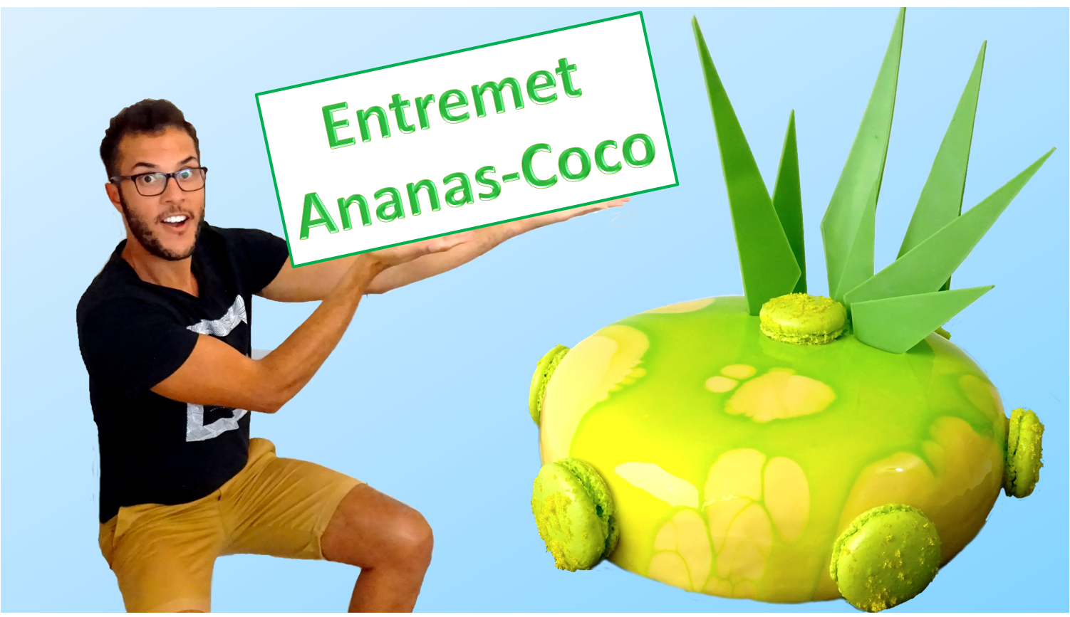 entremet ananas coco pina colada blog z dio. Black Bedroom Furniture Sets. Home Design Ideas