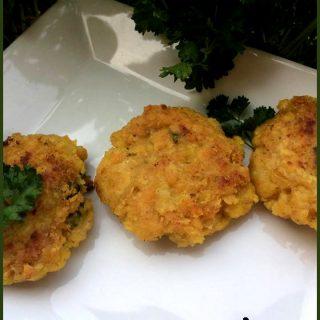 Croquettes de lentilles corail au curry