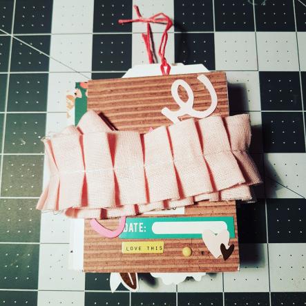 Mini album avec du papier calque