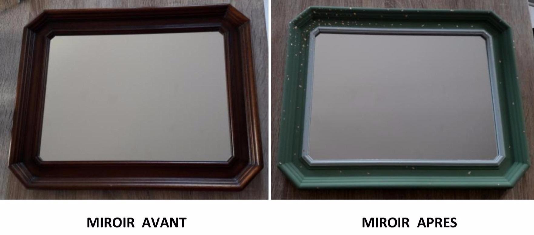 J'ai testé pour vous la customisation d'un vieux miroir avec les peintures The little shop et les copeaux à dorer Pébéo