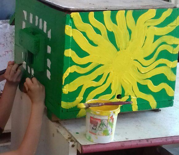 Atelier peinture de ruches ce week end???
