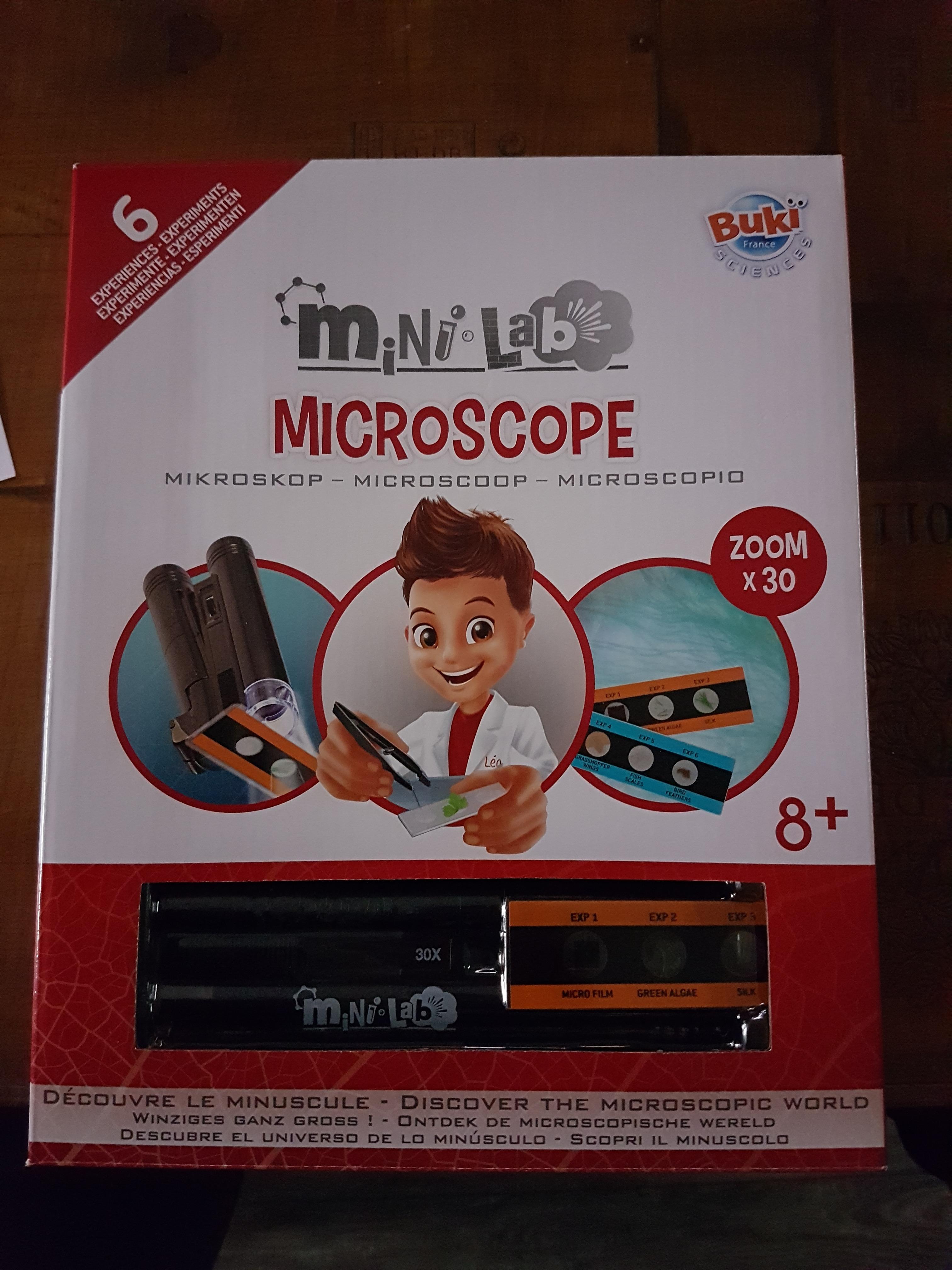 J'ai testé pour vous mini lab microscope