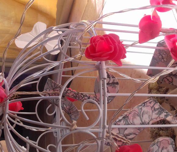 Urne cage pour un don romantique