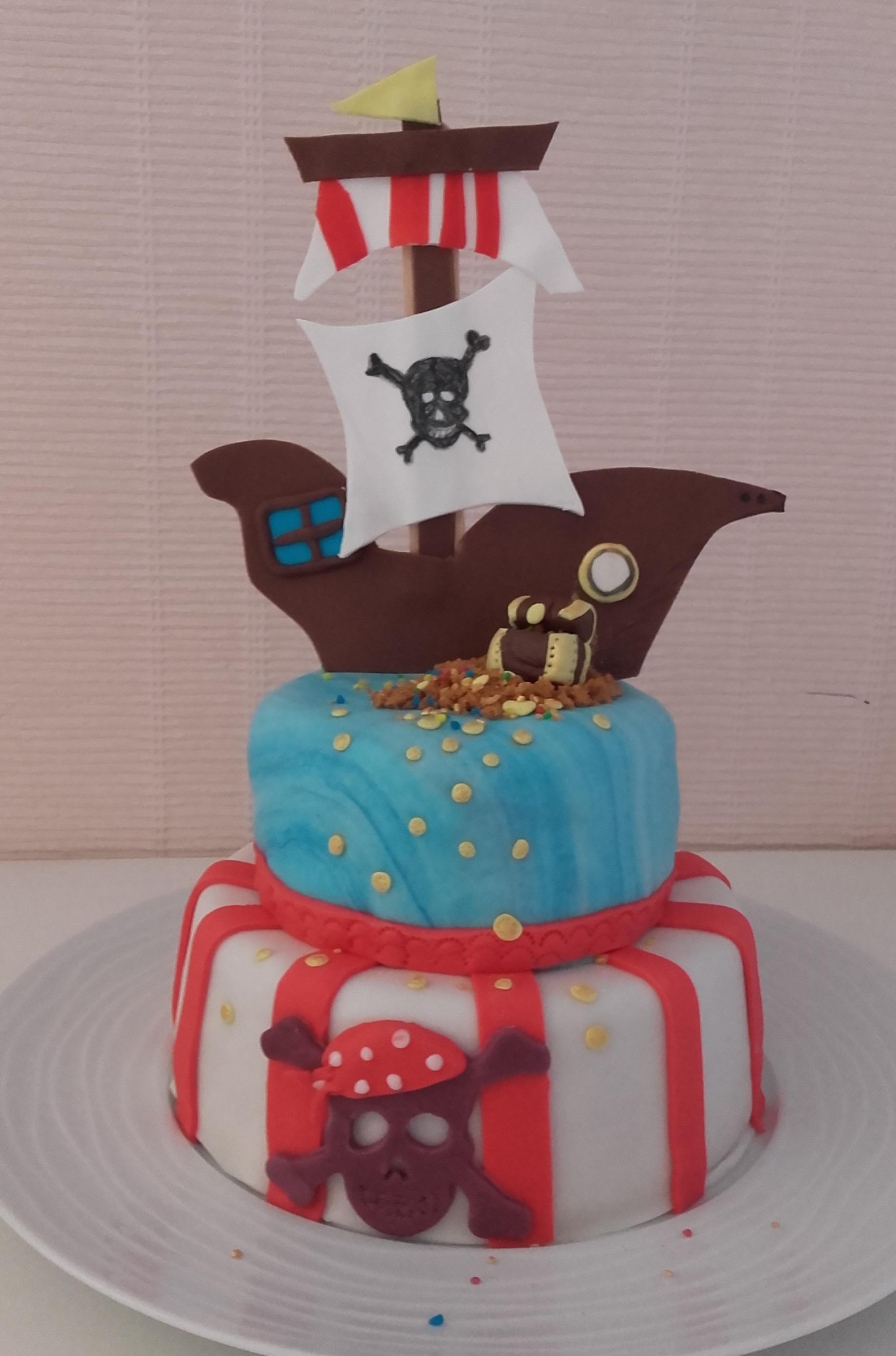 Gâteau d anniversaire Ile aux pirates…