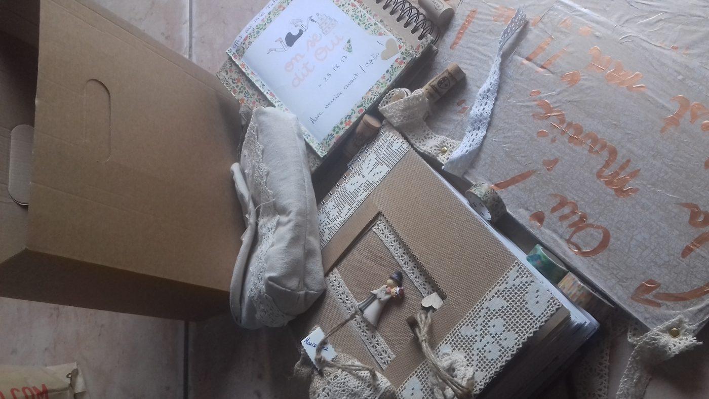 Je recycle ma boîte de transport Zodio...En porte souvenirs de mariage ???