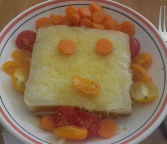 Croque monsieur rigolo au kiri et légumes par Gaïa 7 ans