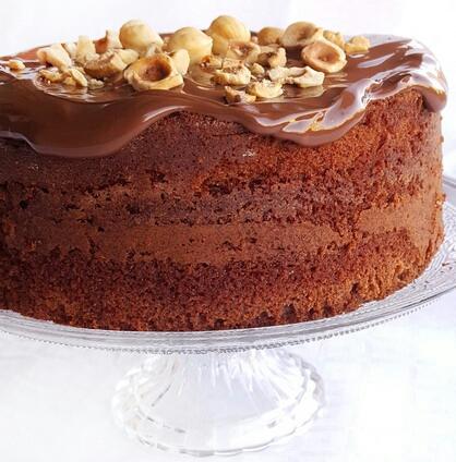 Gâteau nutella noisettes par et pour la fiesta de Gaïa 7 ans