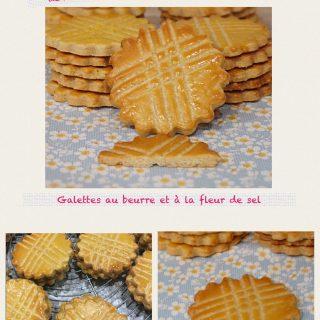 Galettes au beurre et à la fleur de sel ou biscuit breton