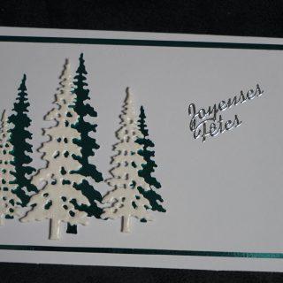 carte de fêtes de fin d'année SAPINS