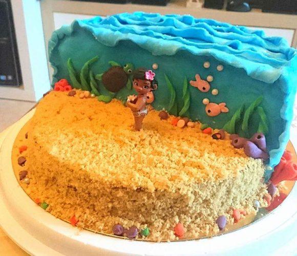 Gâteau Vaiana disney