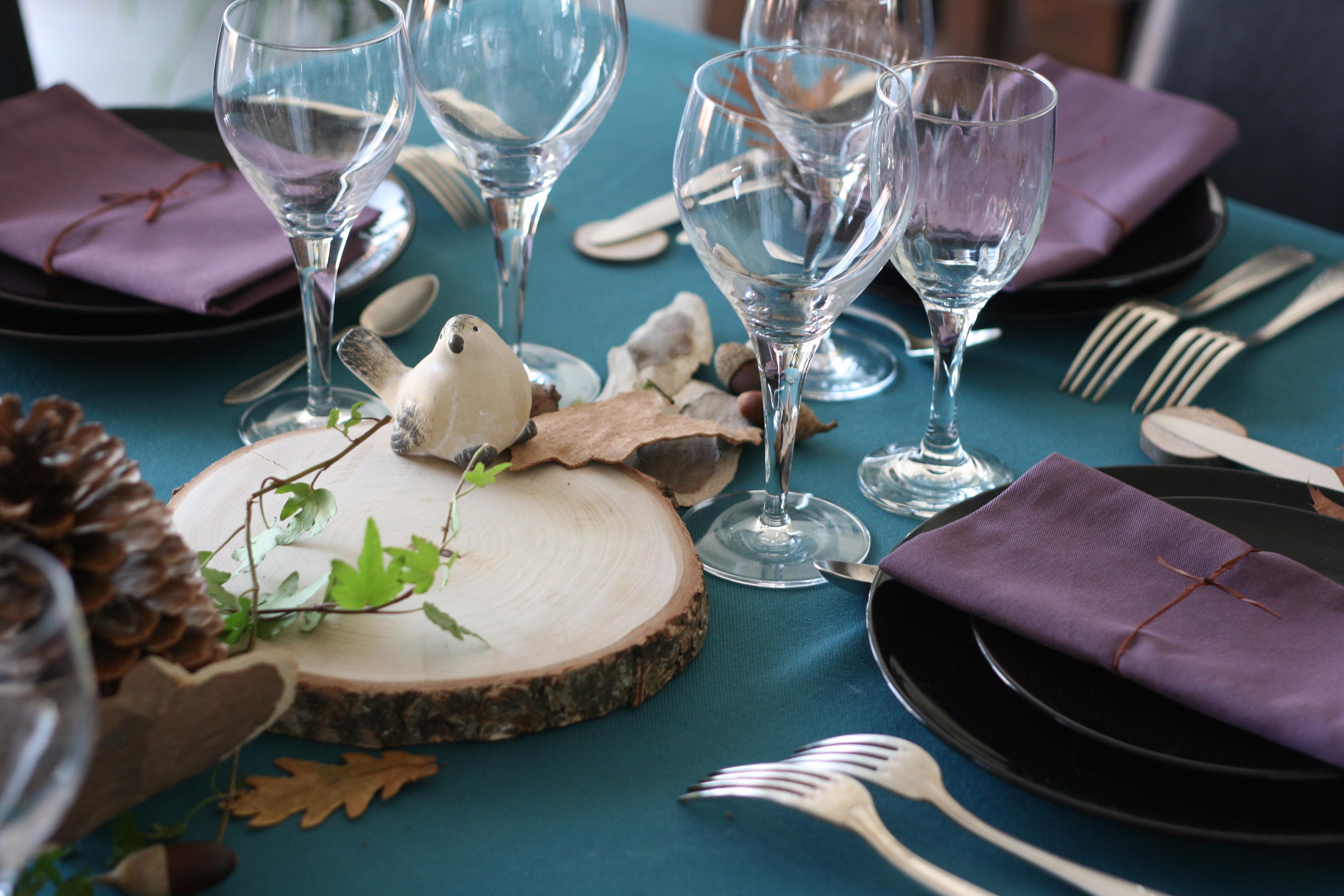 Déco de table : l'automne en forêt