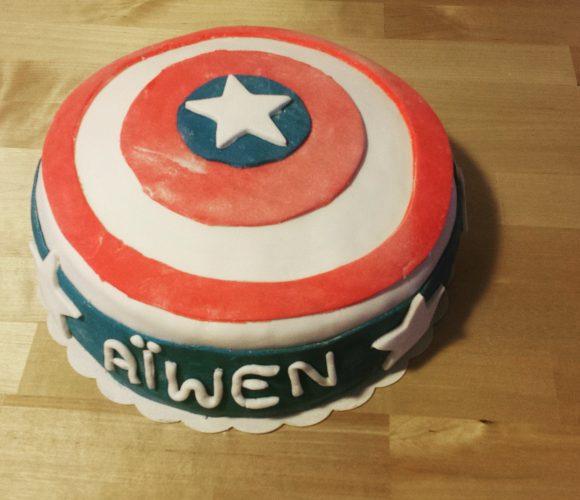 Gâteau Captain America Brownie / Framboise
