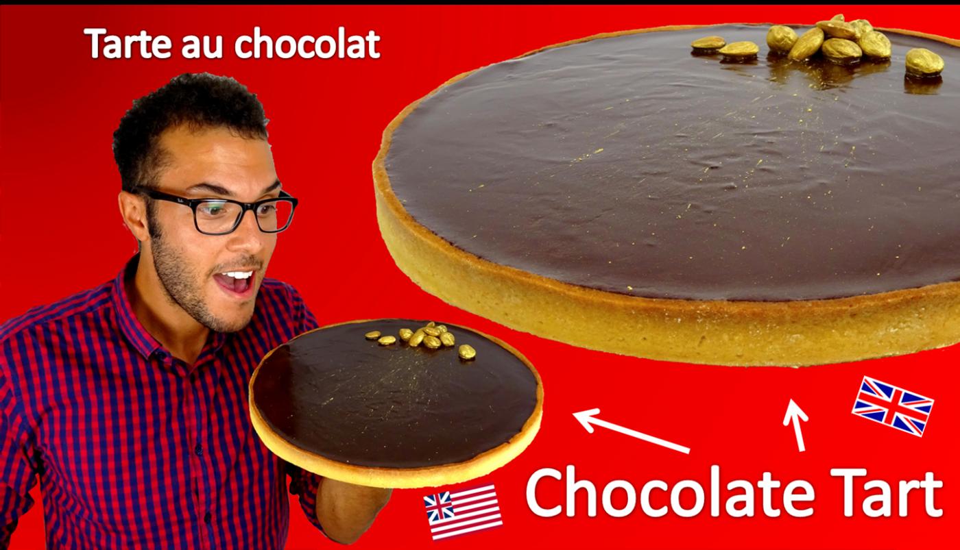 La tarte au chocolat noir
