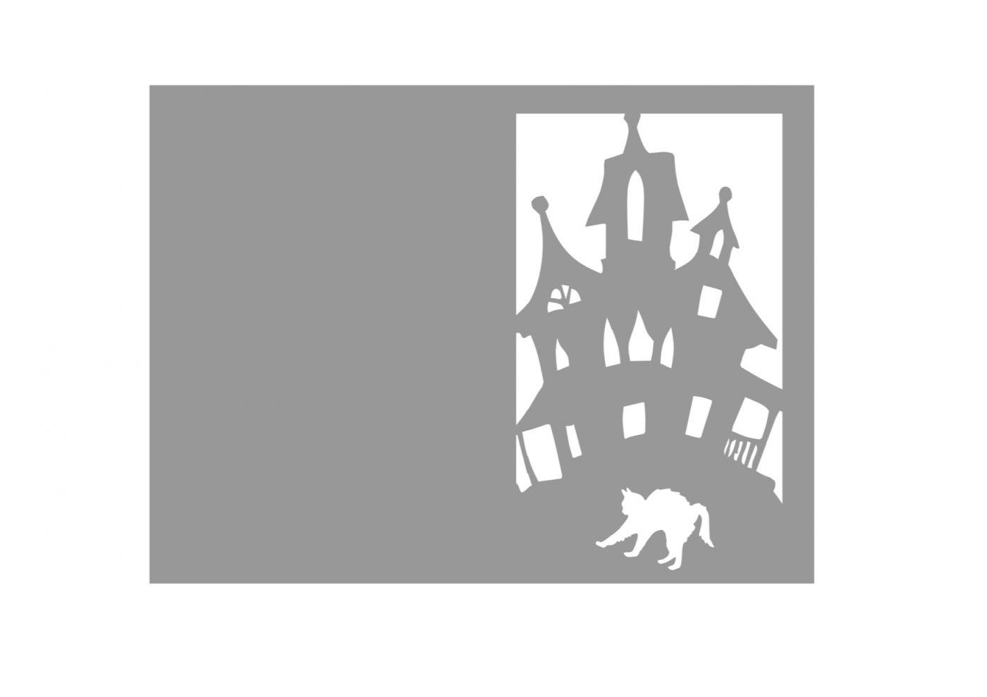 Carte d'halloween pour silhouette studio