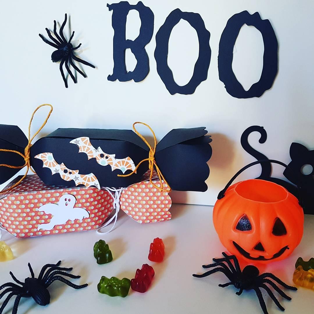 Boîte bonbons invités Halloween