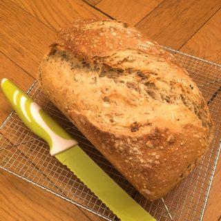 Mon pain aux graines de courges sur poolish