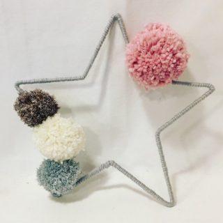 Je crée mon étoile filaire en laine !