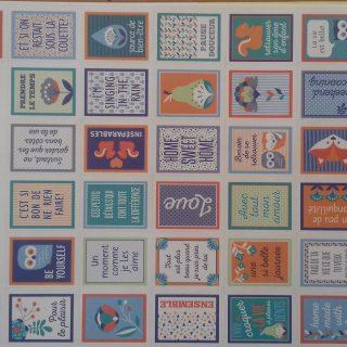 J'ai testé pour vous les 2 planches de stickers graphique time Artemio