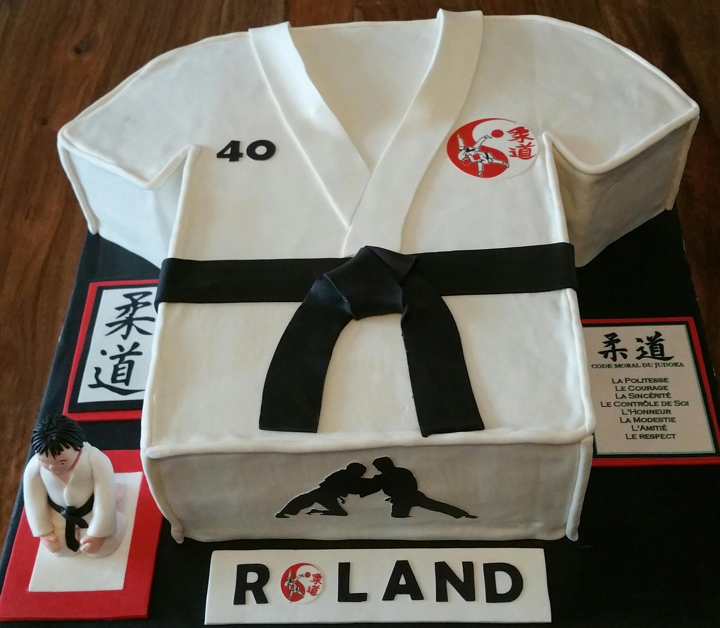 Gâteau kimono de judo