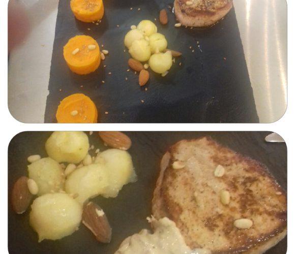 ATELIER MIDI PRESTIGE? Filet mignon veau cèpes purée patates douces panais glacés