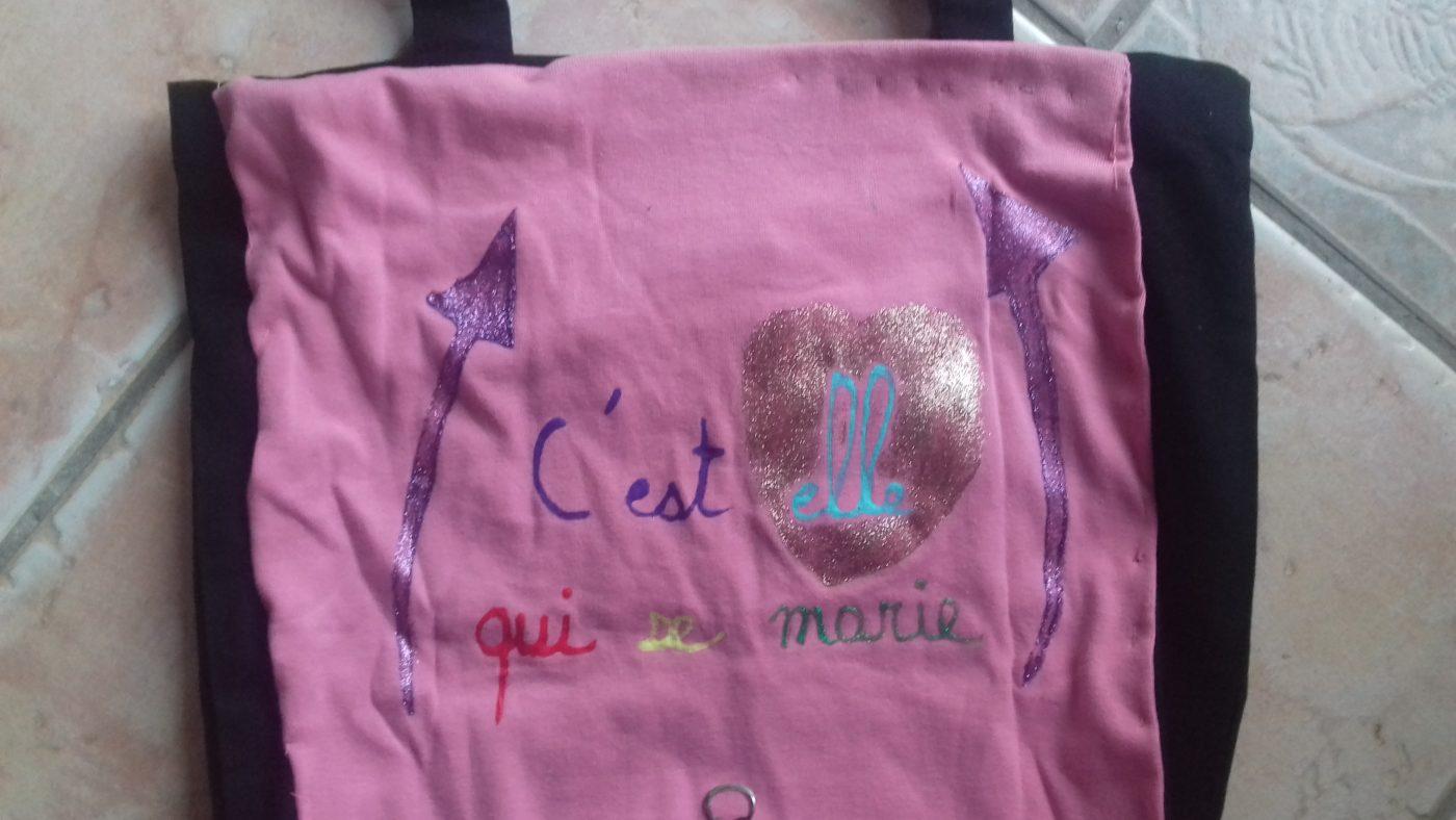 tee shirt enterrement de vie de célibataire...recyclé!