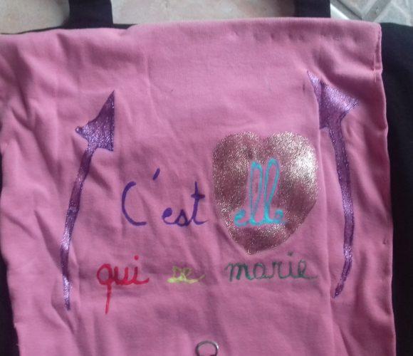 tee shirt enterrement de vie de célibataire…recyclé!