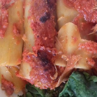 Cannelloni à l effiloché de confit de canard