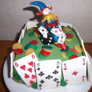 Gâteau jeu de cartes
