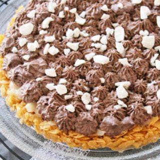 Tarte céréales-poires-chocolat bio {sans gluten, sans lait, sans oeufs}