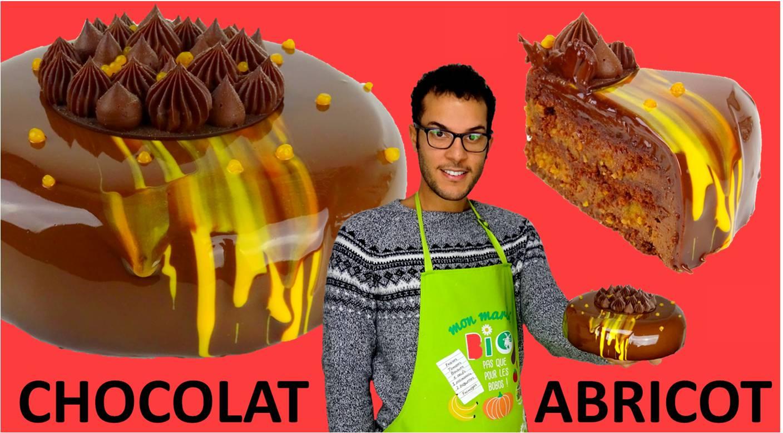 Le sachertorte, entremet chocolat-abricot