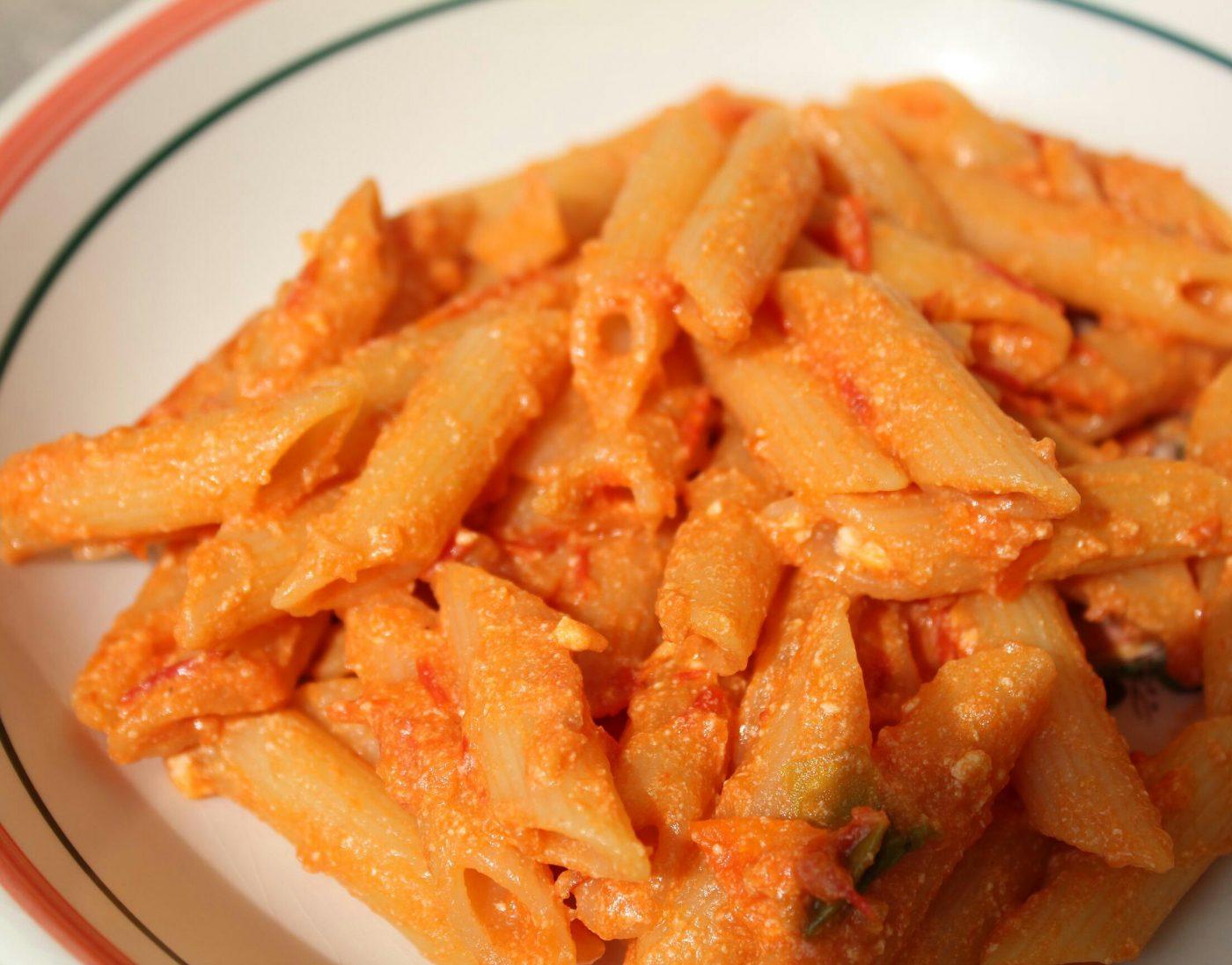 Ce soir ....penne tomate ricotta et petit piment