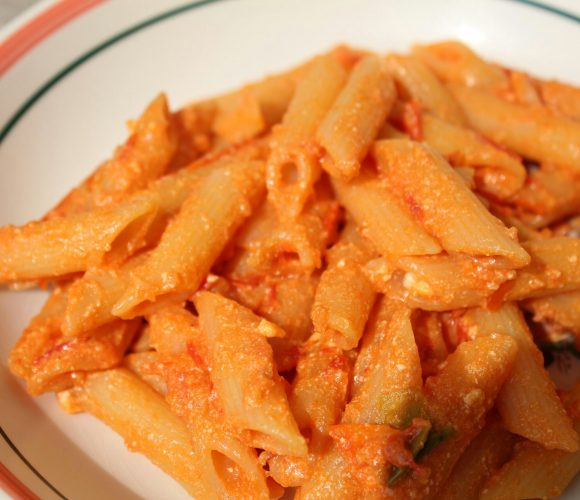 Ce soir ….penne tomate ricotta et petit piment