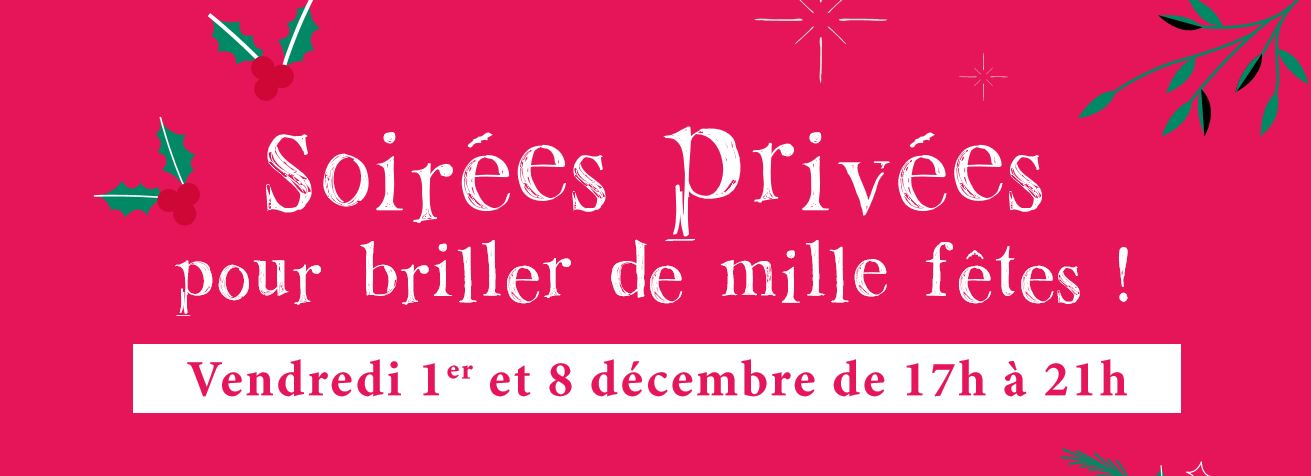 Soirées Privées de Noël : 1er et 8 décembre dans tous les Zôdio !