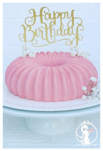 Birthday's cake fraise