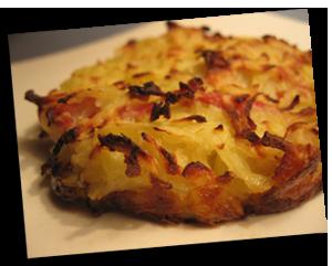 Rösti pomme de terre façon tartiflette