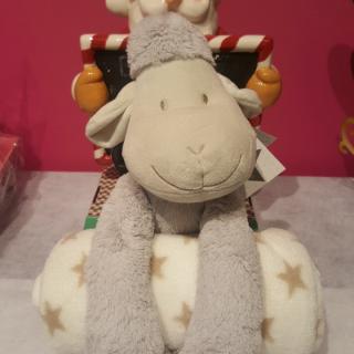 J'ai choisi pour mon neveu le plaid + peluche mouton