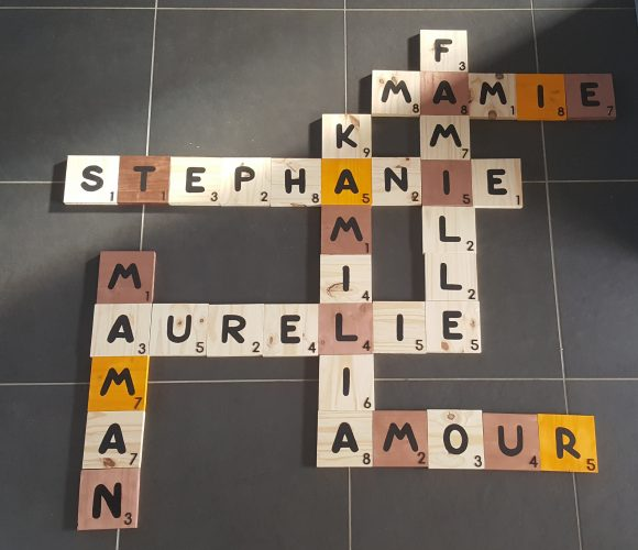 Scrabble géant décoration originale