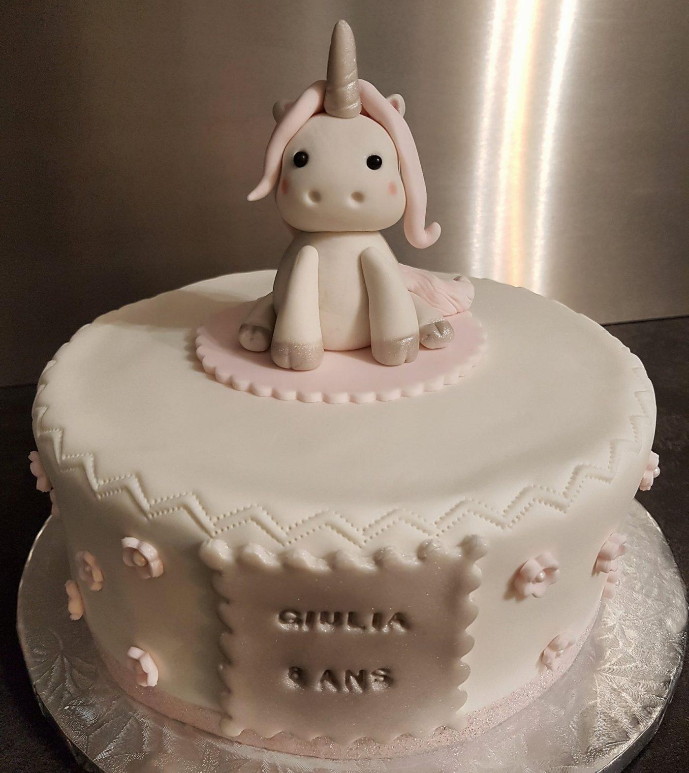 Gâteau licorne enfantine