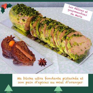 Bûche ultra fondante de foie gras pistachée