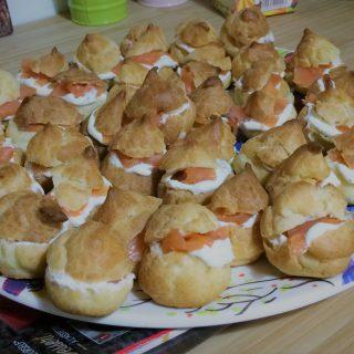 Choux saumon carré frais