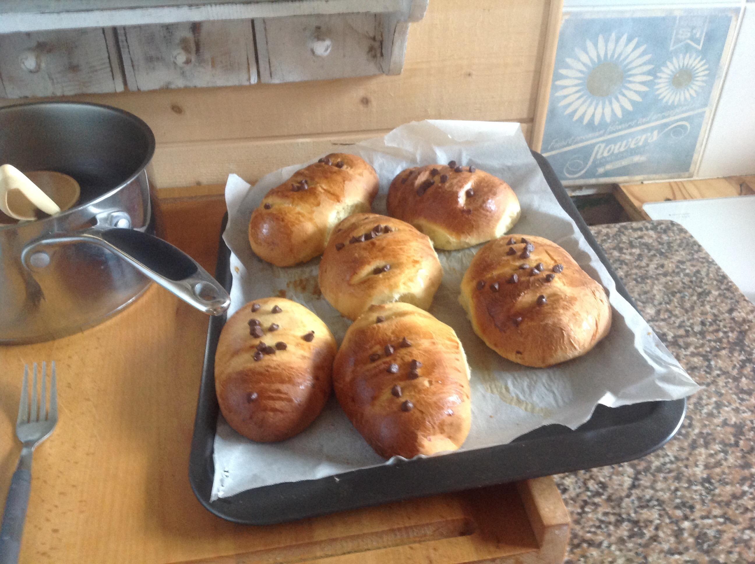 Petits pains au lait avec Bayon de chocolat