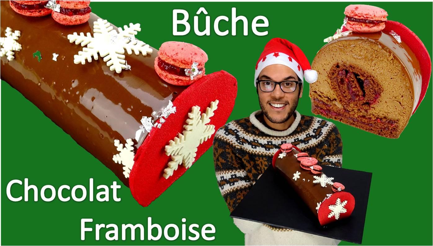 Bûche de Noël chocolat framboise