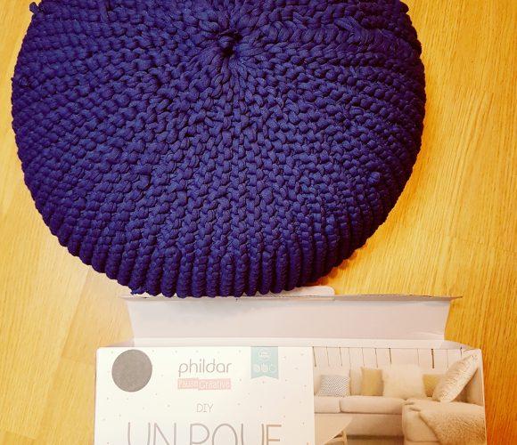 J'ai testé pour vous le kit «Un POUF que je tricote moi-même» par PHILDAR