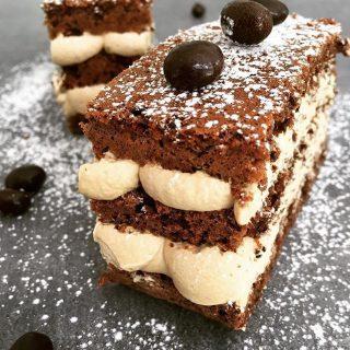 Gâteau aux noix, crème mascarpone café sans gluten