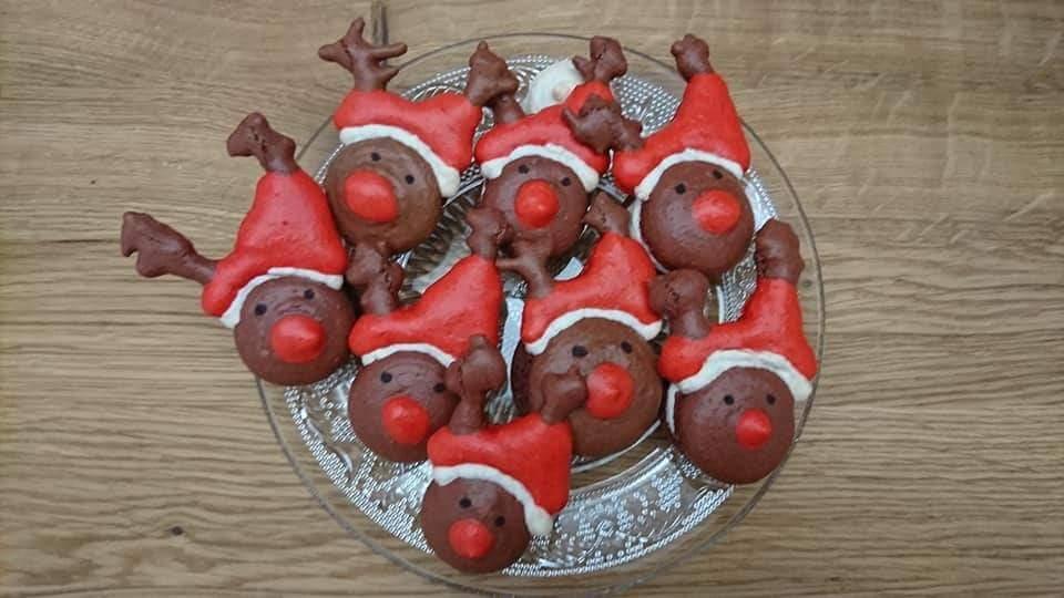 Macarons Rudolph pain d'épice
