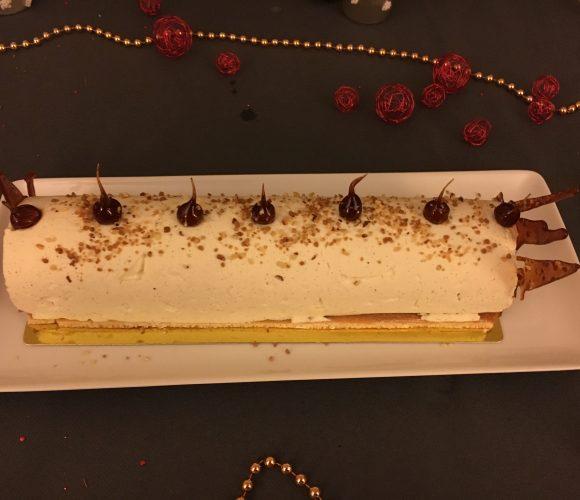 Bûche Noël 2017 : Vanille, caramel et speculos