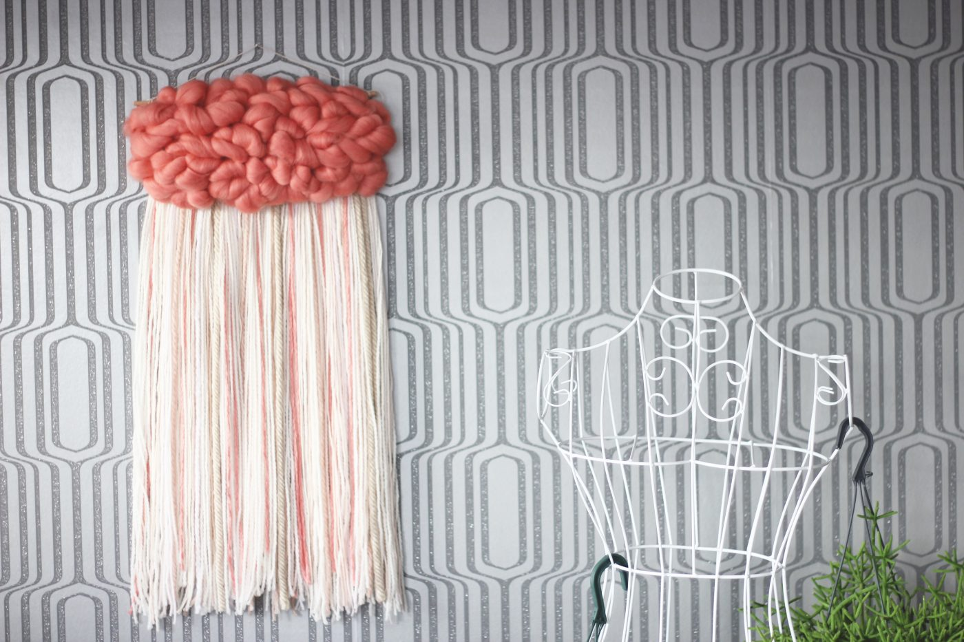 tissage mural nuage rose blog z dio. Black Bedroom Furniture Sets. Home Design Ideas