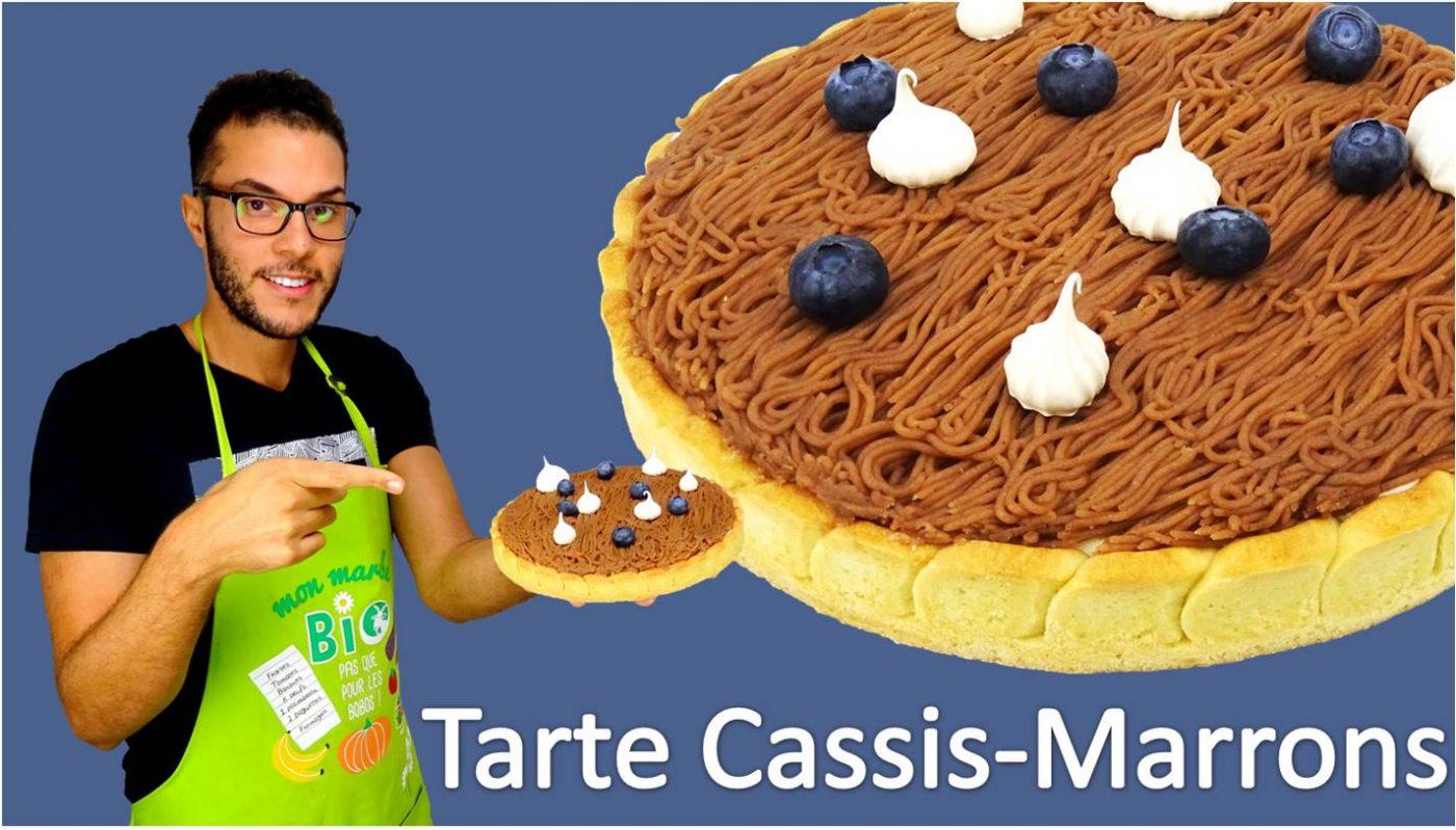 TARTE CASSIS-MARRONS