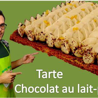 La tarte passion-chocolat au lait